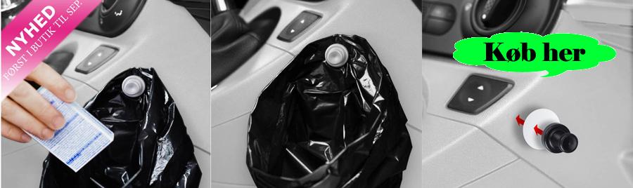Mega Smart og billig skraldepose holder til bilen. EE33